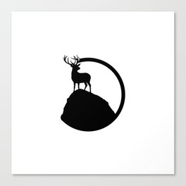 deer pose Canvas Print