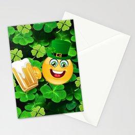 St. Patrick Day Emoticon Stationery Cards