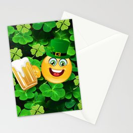St. Patricks Day Emoticon Stationery Cards