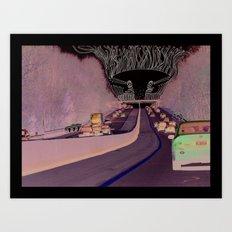 Road Monster Art Print