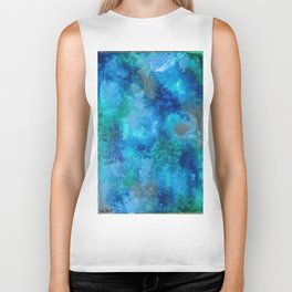 Blue Clouds Biker Tank