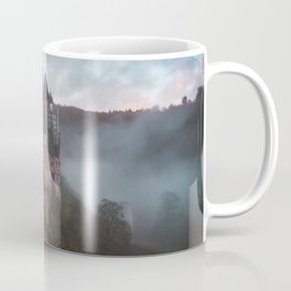medieval castle surrounded by mist Coffee Mug