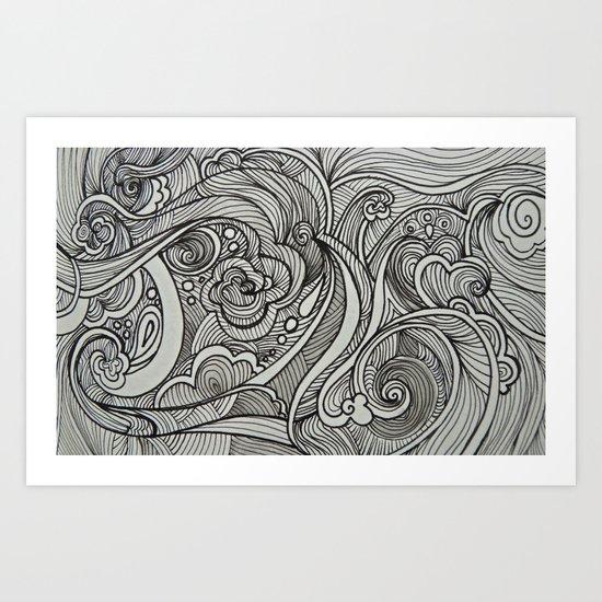 Cloud Swirls Art Print