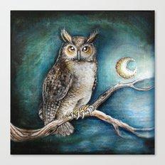 Moon Owl Canvas Print