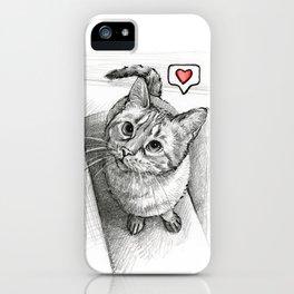 Cute Kitty Cat - Love Me iPhone Case