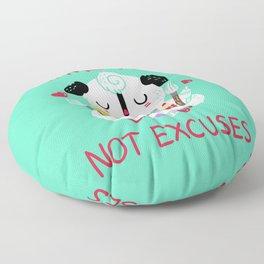 Make Art Not Excuses Floor Pillow