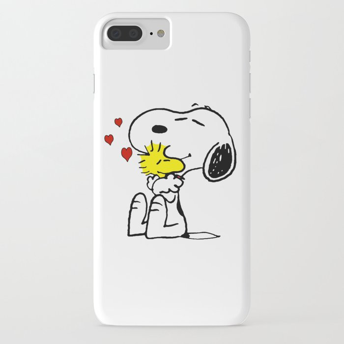 snoopy love woodstock iphone case