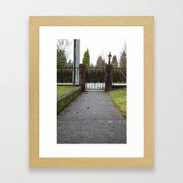 Front walk Framed Art Print