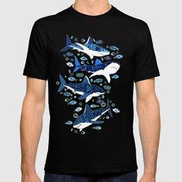 Sharks On Aqua T-shirt