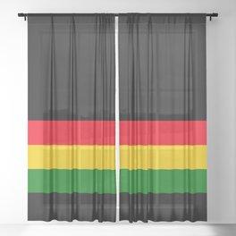 Rastafarian Colors Sheer Curtain