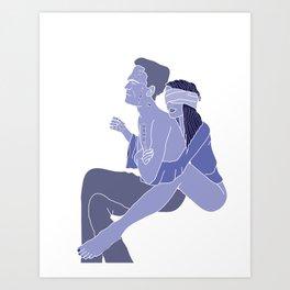 I hurt you because I love you Art Print