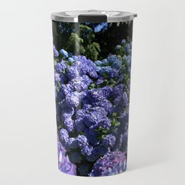 SEA OF BLUE HYDRANGEA FLOWERS Travel Mug
