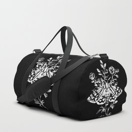 butterfly black Duffle Bag