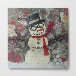 COOL JACK, Snowman Metal Print