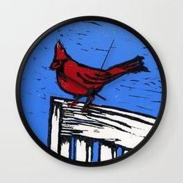 Cardinal Lino Cut Wall Clock
