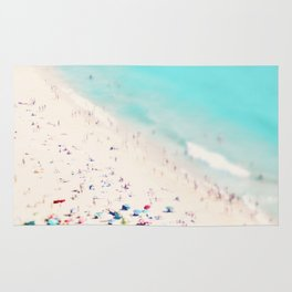 beach love III square Rug