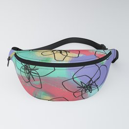 Hibiscus Family no.2 - hibiscus flower illustration floral pattern summer painting Fanny Pack