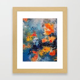 Orange Fish Framed Art Print