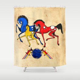 Navajo Horse Family Shower Curtain