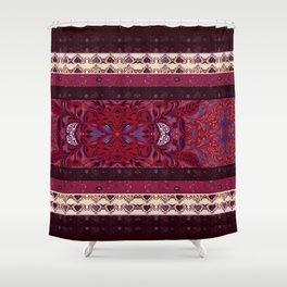 Patterns in Maroon - by Fanitsa Petrou Shower Curtain