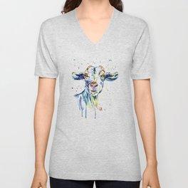 The Happy Goat Unisex V-Neck