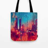 atlanta Tote Bags featuring Graffiti Atlanta  by Danielle DePalma