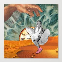 Marilyn in a desert - Dadaism influence Canvas Print