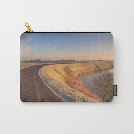 II - Typical Dutch landscape with a dike, in winter at sunrise Carry-All Pouch