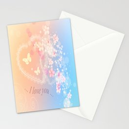 ... i love you ... Stationery Cards