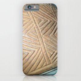 Wooden carving southwest iPhone Case