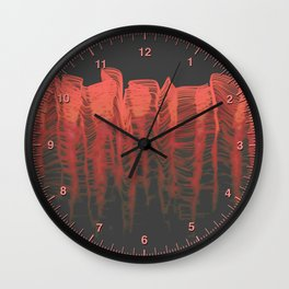 Ghost Wave (r) Wall Clock