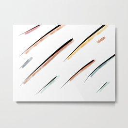 Stripped Lines Metal Print