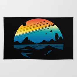 Scenic colorful space Rug