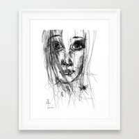 leah flores Framed Art Prints featuring LEAH by EDEN