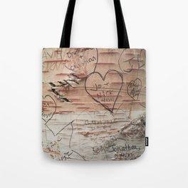 Love Memories in Lover's Lane, Green Gables Tote Bag