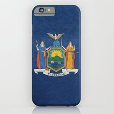 New York State Flag, vintage retro style iPhone 6s Slim Case