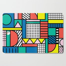 Memphis Color Block Cutting Board