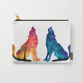Day & Night Wolves Carry-All Pouch