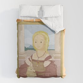 Lady with Unicorn by Raphael Comforters