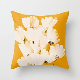 Flowers In Tangerine Throw Pillow