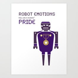 Pride Robot Emotions Art Print