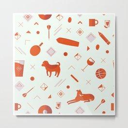 Redpattern Metal Print