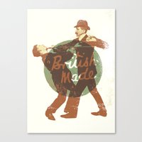british Canvas Prints featuring British Made by peter O'Toole
