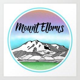 Mt. Elbrus Art Print