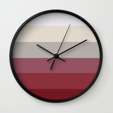 Raspberry Toast Ombre Wall Clock