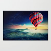 hot air balloons Canvas Prints featuring Hot Air Balloons by EclipseLio