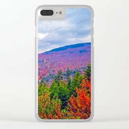 Brilliant Fall Colors at Ira Mountain in Kingfield, Maine (3) Clear iPhone Case