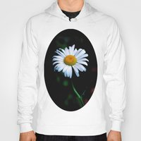 jewish Hoodies featuring A daisy a day keeps the blues away by Brown Eyed Lady