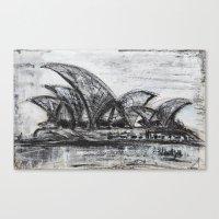 sydney Canvas Prints featuring Sydney by sladja