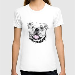 Bulldog with Pink Tongue T-shirt